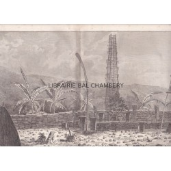 "Gravure n° 33 -""  Cimetière d'Atooi "" - A Voyage to the Pacific Ocean [Third Voyage]"