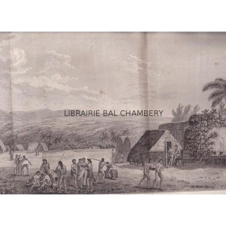 """Gravure n° 35 - """" Vue de l'intérieur de l'isle d'Atooi """" - A Voyage to the Pacific Ocean [Third Voyage]"""