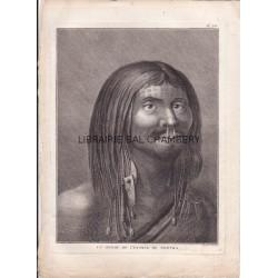 """Gravure n° 38 - """" Un homme de l'entrée de Nootka """" - A Voyage to the Pacific Ocean [Third Voyage]"""
