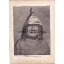 """Gravure n° 39 - """" Une femme de l'entrée de Nootka """" - A Voyage to the Pacific Ocean [Third Voyage]"""