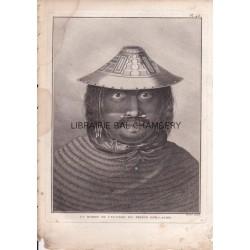 """Gravure n° 46 - """" Un homme de l'entrée du Prince Guillaume """" - A Voyage to the Pacific Ocean [Third Voyage]"""