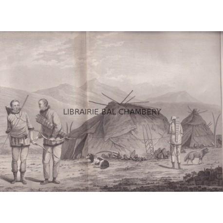 """Gravure n° 52 - """" Les Tschutsky et leurs habitations """" - A Voyage to the Pacific Ocean [Third Voyage]"""