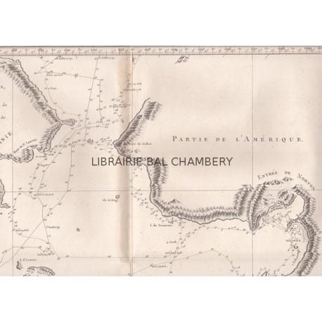 """Gravure n° 53 - """" Carte de l'entrée de Norton et du Détroit de Bhering"""" - A Voyage to the Pacific Ocean [Third Voyage]"""