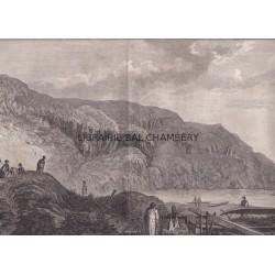 "Gravure n° 57 - "" Naturels et habitations de Oonalashka "" - A Voyage to the Pacific Ocean [Third Voyage]"