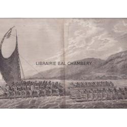 "Gravure n° 61 - "" Téréoboo, roi d'Owyhee au Capitaine Cook, aux Isles Sandwich "" - A Voyage to the Pacific Ocean [Third Voyage]"