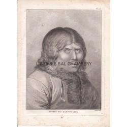 "Gravure n° 75 - "" Homme du Kamtchatka  "" - A Voyage to the Pacific Ocean [Third Voyage]"