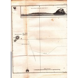 """Gravure n° 80 - """" Isle de Soufre  """" - A Voyage to the Pacific Ocean [Third Voyage]"""