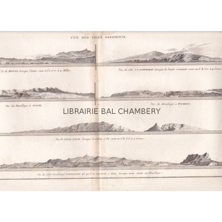 "Gravure n° 83 - ""Vue des Isles Sandwich "" - A Voyage to the Pacific Ocean [Third Voyage]"
