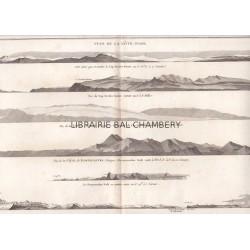 """Gravure n° 84 - """" Vues de la Côte d'Asie """" - A Voyage to the Pacific Ocean [Third Voyage]"""
