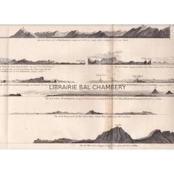 """Gravure n° 87 - """" Vues des terres de la Côte occidentale de l'Amérique, ..."""" - A Voyage to the Pacific Ocean [Third Voyage]"""