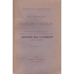 Du Français aux  parlers créoles - Le vocabulaire du parler créole de la Martinique