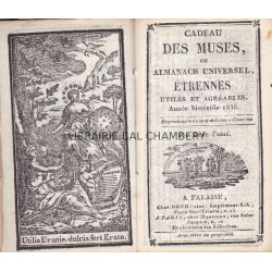 Cadeau des Muses, ou Almanach Universel, Etrennes utiles et agréables. Année bissextile1836