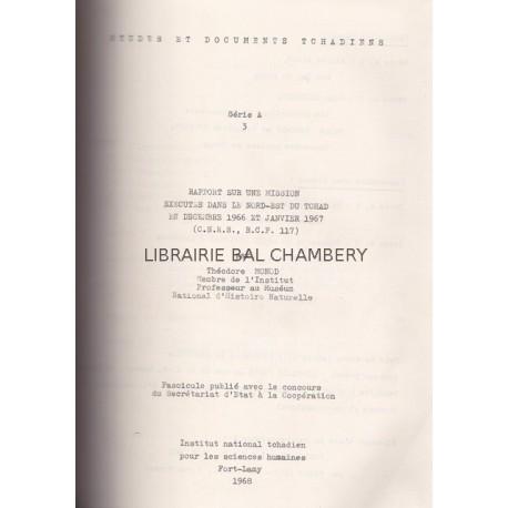 Rapport sur une mission exécutée dans le N.E. du Tchad en décembre 1966 et janvier 1967