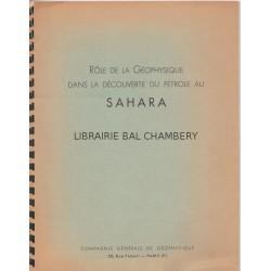 Rôle de la Géophysique dans la découverte du pétrole au Sahahra