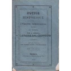 Notice historique sur l'église chrétienne réformée de Nismes