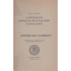 A propos de l'origine de H touareg (Tahaggart)
