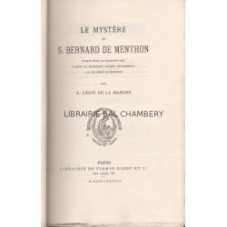 Le mystère de S. Bernard de Menthon