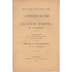 L'annexion de 1860 et la Cour d'Appel de Chambéry
