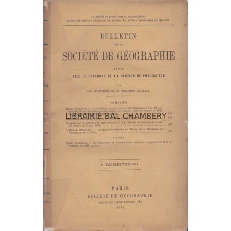 Bulletin de la Sté Géographique La confrérie musulmane de Sîdi Mohammed Ben 'Alî Es-Senoûsî et son domaine géogaphique