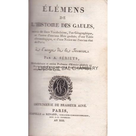 Elémens de l'histoire des Gaules