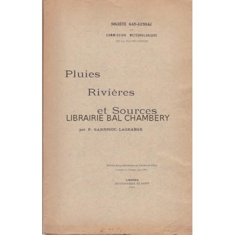 Pluies, Rivières et Sources