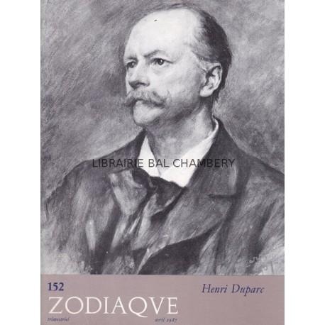 Zodiaque n°152 - Henri Duparc