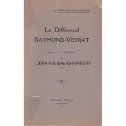 Le différend Raymond-Veyrat Réponse à M. A. Berthier
